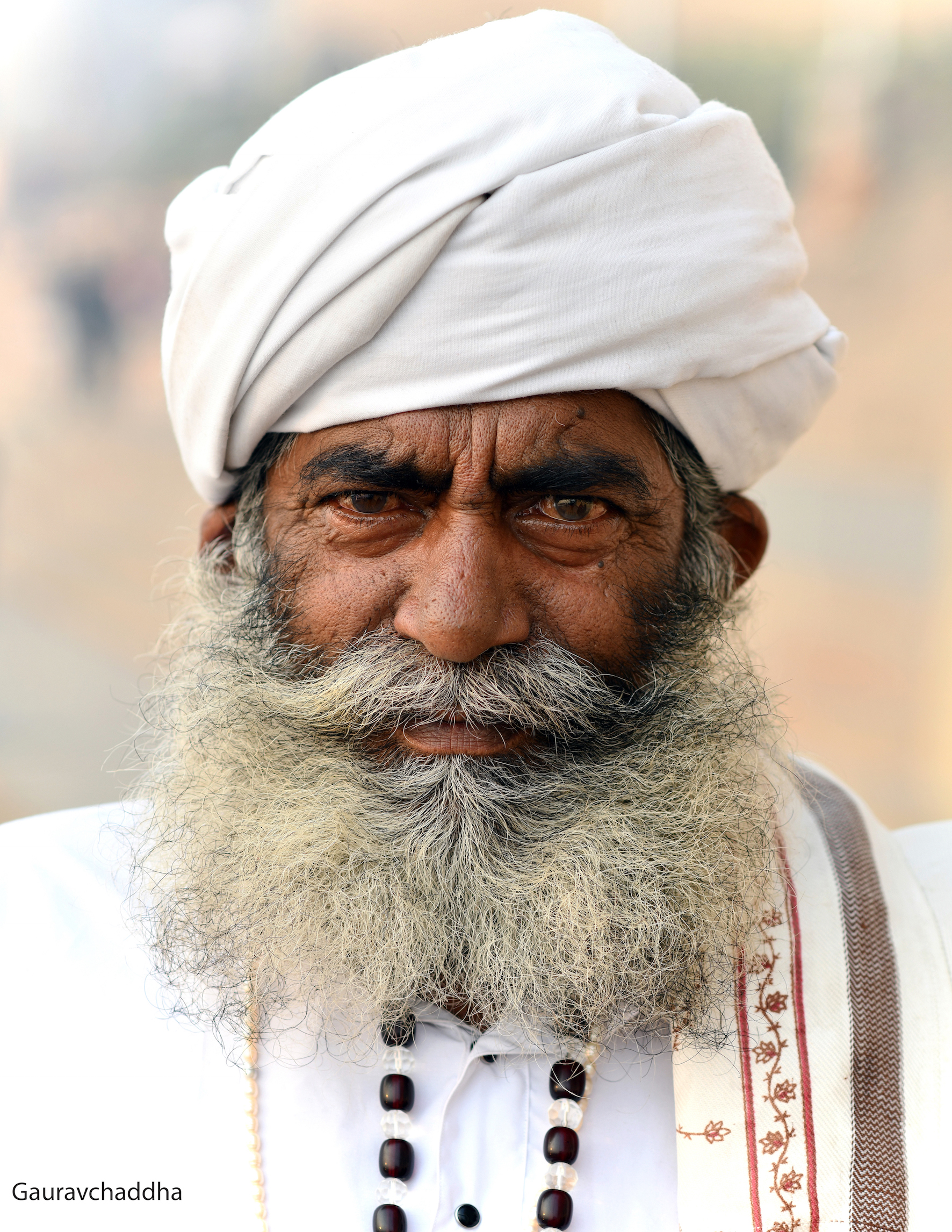 A portrait of a traveller from Kutch,Gujrat ,India